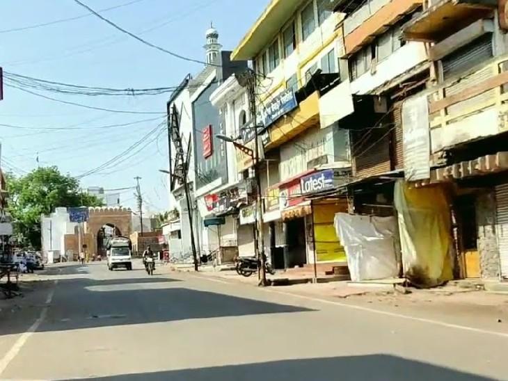 औरंगाबाद के भीड़ वाले उस्मानपुर इलाके में सडकों पर सन्नाटा देखने को मिला।