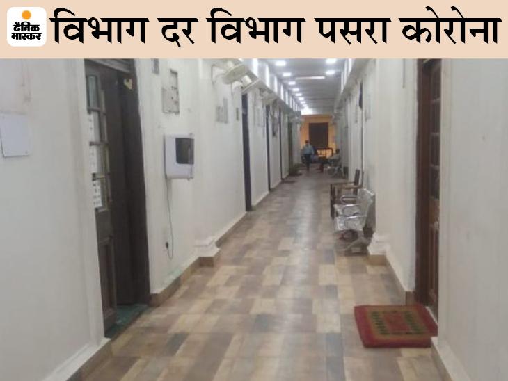 मुख्य सचिवालय स्थित सूना पड़ा समाज कल्याण विभाग। - Dainik Bhaskar