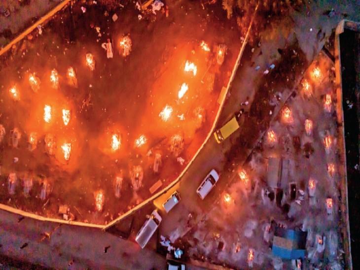 भोपाल में पहली बार 112 मौतें, सरकारी रिकॉर्ड में सिर्फ 4, पहली बार इतने संक्रमितों का अंतिम संस्कार|भोपाल,Bhopal - Dainik Bhaskar