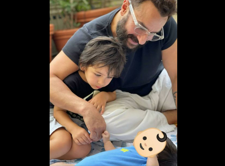 छोटे भाई के साथ खेलते नजर आए तैमूर, करीना कपूर ने शेयर की फोटो लेकिन नहीं दिखाया बेटे का चेहरा|बॉलीवुड,Bollywood - Dainik Bhaskar