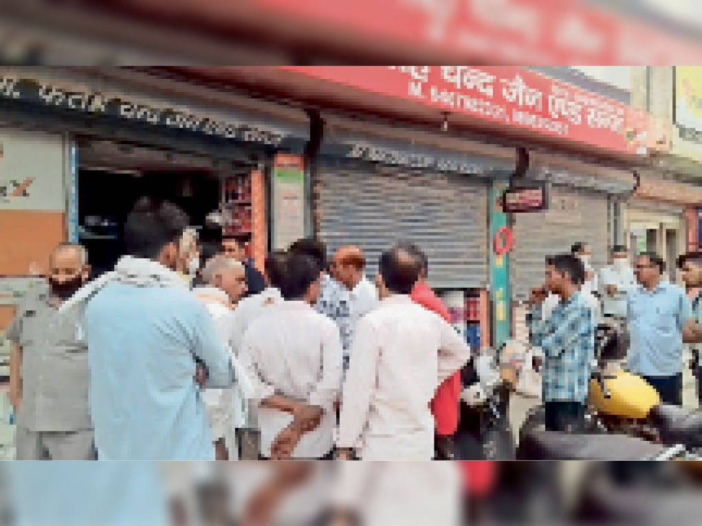 पुलिस नाके से 60 मीटर की दूरी पर चाकू से हमला कर पेंट व्यापारी से लूटे 35 हजार|जींद,Jind - Dainik Bhaskar