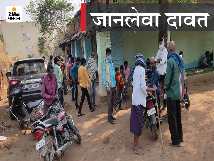 तस्वीर जांजगीर की है। लोगों को ये पता है कि संक्रमण किस कदर प्रदेश को घेर रहा है फिर भी ऐसी लापरवाह तस्वीर सामने आई। - Dainik Bhaskar