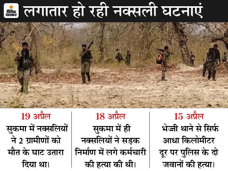 DRG जवानों की ओर से जवाबी कार्रवाई में राइफल और सामान छोड़ भागे नक्सली, सर्च ऑपरेशन जारी|छत्तीसगढ़,Chhattisgarh - Dainik Bhaskar