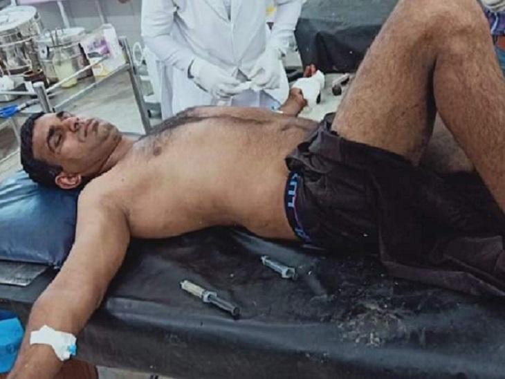 छत्तीसगढ़ के नारायणपुर में IED ब्लास्ट की चपेट में आकर ITBP का जवान घायल हो गया। - Dainik Bhaskar