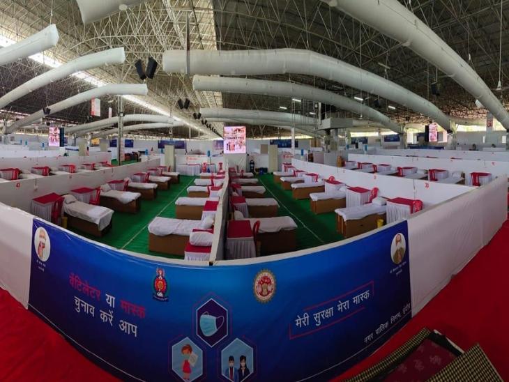 इंदौर के राधास्वामी सत्संग व्यास की 45 एकड़ जमीन पर 600 बेड लगाए, बड़ी स्क्रीन पर रामायण के साथ IPL भी देख सकेंगे; ट्रायल रन आज|मध्य प्रदेश,Madhya Pradesh - Dainik Bhaskar