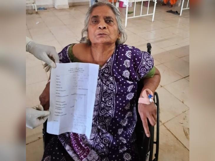 भिलाई में कोरोना से 76 साल की अम्मा ने जीती जंग, हाइपरटेंशन से लेकर डायबिटीज के बावजूद 5 दिन में रिकवर|भिलाई,Bhilai - Dainik Bhaskar