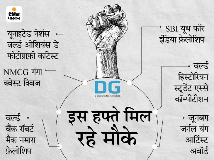 UN-वर्ल्ड बैंक जैसे इंटरनेशनल कम्पीटीशन्स में टैलेंट दिखाकर अवार्ड जीतने के 6 मौके|बिहार,Bihar - Dainik Bhaskar