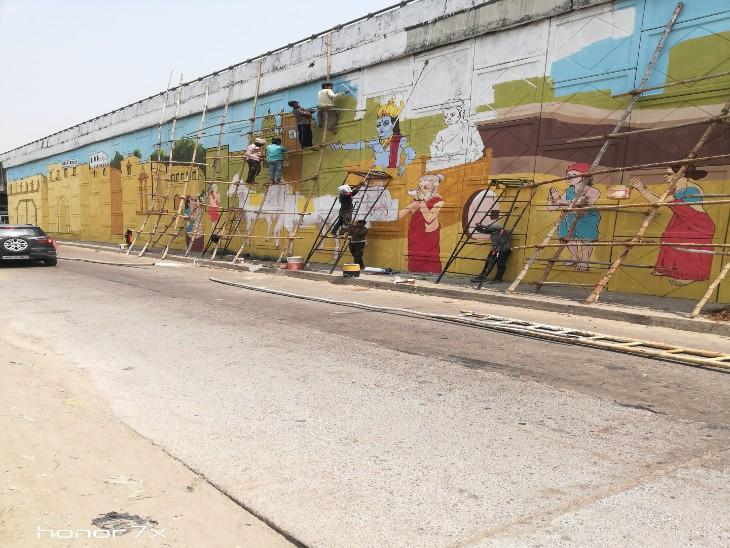 अयोध्या हाईवे पर त्रेता युग का माहौल बनाने की योजना पर काम शुरू, 'बाल कांड' से लेकर 'लव-कुश कांड' की गाथा का चित्रण होगा|लखनऊ,Lucknow - Dainik Bhaskar