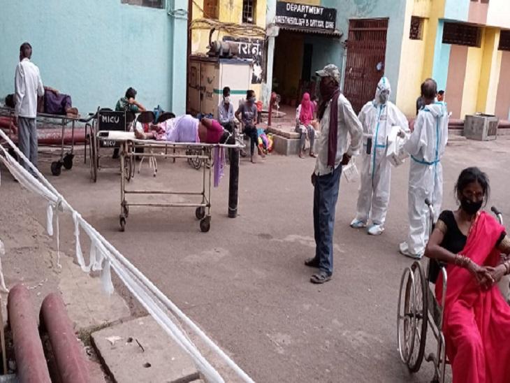 सबसे ज्यादा संक्रमित रायपुर, बिलासपुर, दुर्ग में मरीजों को नहीं मिल रहे बेड, सिर्फ कुछ छोटे जिलों में ही वेंटिलेटर और ऑक्सीजन बेड खाली|रायपुर,Raipur - Dainik Bhaskar