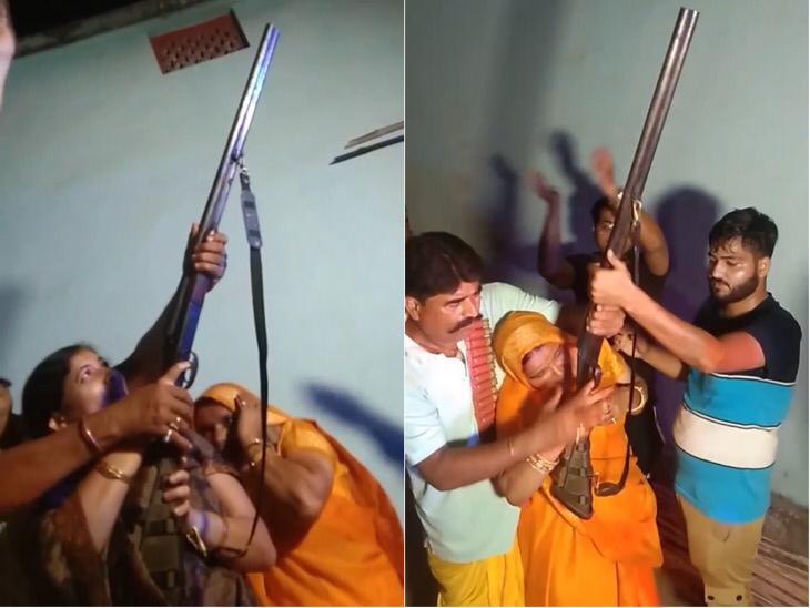 महिला-पुरुष-नौजवान सबने की हर्ष फायरिंग, कानून के साथ कोविड गाइडलाइन भी भूले|बिहार,Bihar - Dainik Bhaskar