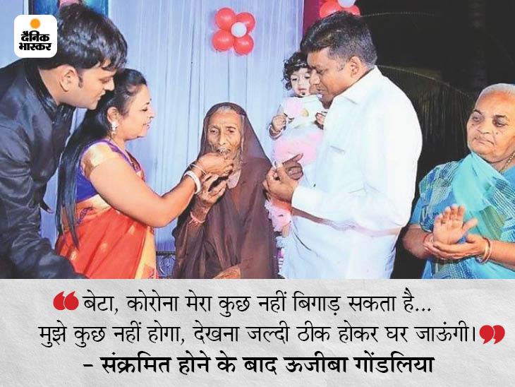105 साल की ऊजीबा के मनोबल से कोरोना भी हारा, सिर्फ 9 दिन में रिकवर होकर पहुंचीं घर; डॉक्टरों से बोलीं- मुझे कुछ नहीं होगा देश,National - Dainik Bhaskar