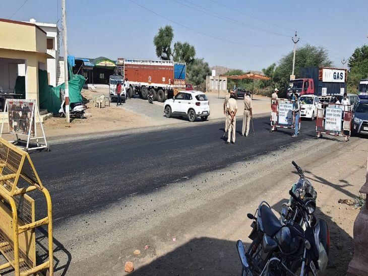 नागौर बार्डर पर रूपनगढ़ पुलिस की नाकेबंदी-अरविन्द दाधीच