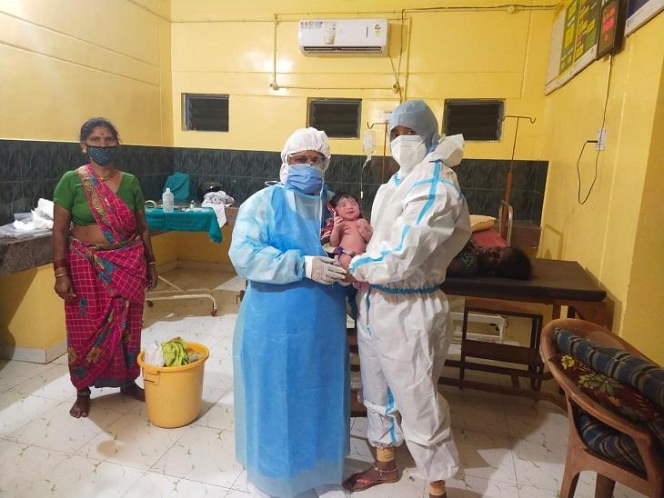 बालोद जिले के सामुदायिक स्वास्थ्य केंद्र कुरदी में कोरोना संक्रमित महिला का सफलता पूर्वक प्रसव कराया गया। बच्चा और मां दोनों स्वस्थ है। - Dainik Bhaskar