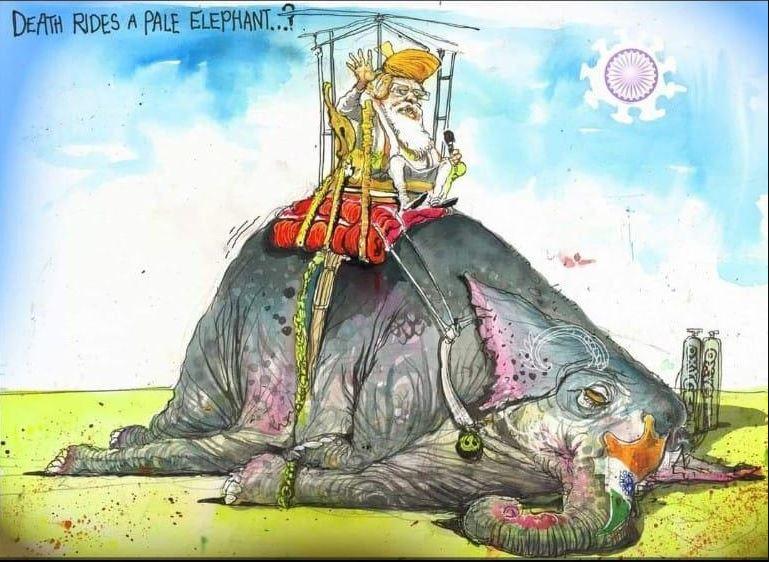 ऑस्ट्रेलियन फाइनेंशियल रिव्यू में कार्टूनिस्ट डेविड रोव का यह कार्टून पब्लिश हुआ है।