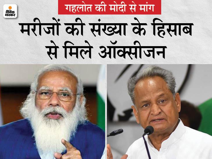 कहा- ऑक्सीजन के साथ टैंकर भी दीजिए, तभी शिकायतें खत्म हो पाएंगी; ऑक्सीजन प्लांट्स की तरह टैंकर्स को भी एक्वायर करे केंद्र|जयपुर,Jaipur - Dainik Bhaskar