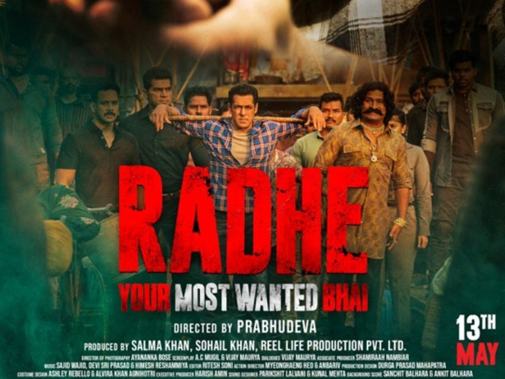 सलमान खान की 'राधे' को ऑनलाइन और टीवी पर देखने के लिए खर्च करने होंगे 249 रुपए, ईद पर सिनेमाघरों में भी होगी रिलीज बॉलीवुड,Bollywood - Dainik Bhaskar