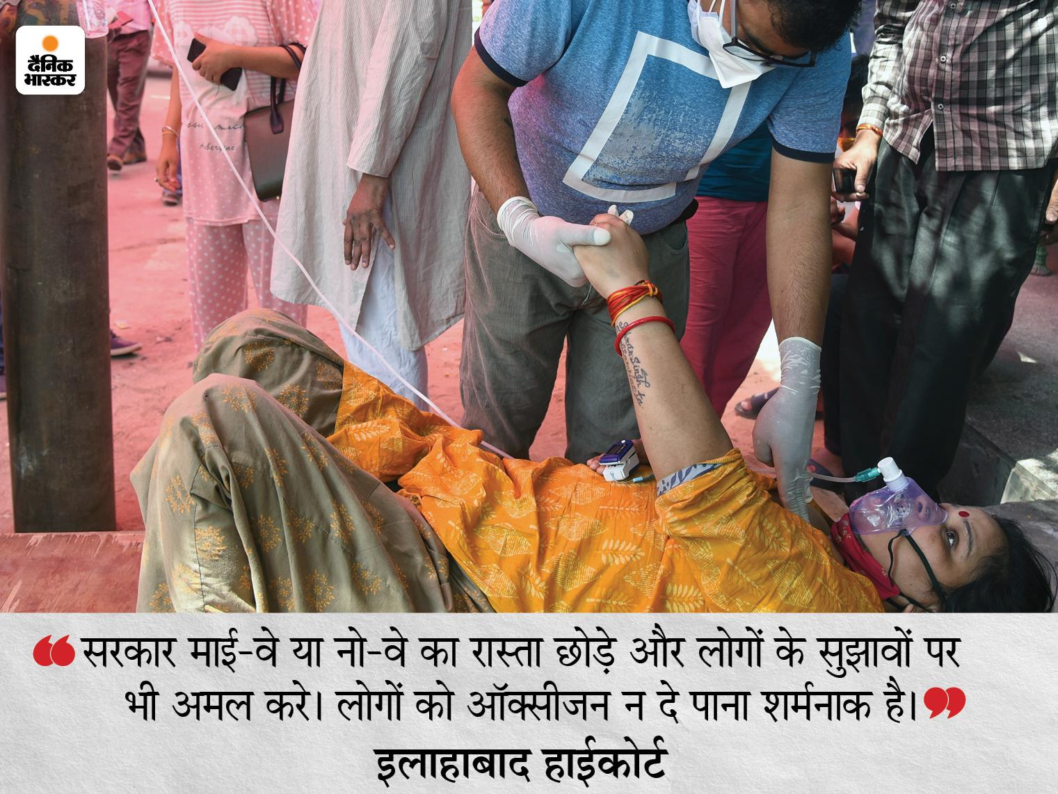 इलाहाबाद हाईकोर्ट ने कहा- कोरोना का भूत सड़कों पर मार्च कर रहा, लोगों की जिंदगी भाग्य भरोसे|लखनऊ,Lucknow - Dainik Bhaskar