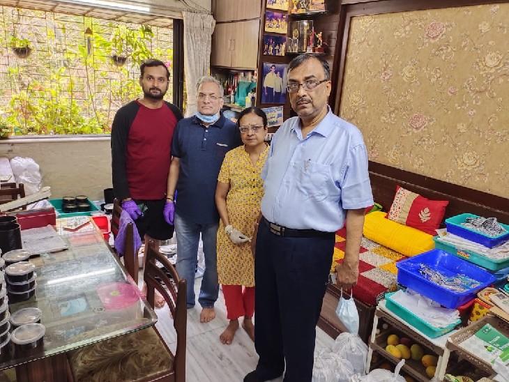 अपने किचन से होम क्वारैंटाइन मरीजों का पेट भर रहे मुंबई के ये दानवीर, हर दिन 200-200 लोगों तक पहुंचा रहे खाना|मुंबई,Mumbai - Dainik Bhaskar