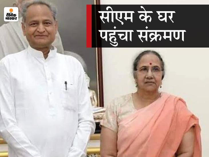 अशोक गहलोत की पत्नी सुनीता पॉजिटिव;सीएम बोले-अब हर शाम 8.30 बजे होने वाली कोविड समीक्षा बैठक आइसोलेशन में रहकर करूंगा|राजस्थान,Rajasthan - Dainik Bhaskar