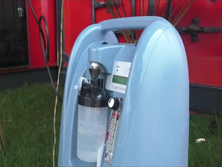 ऑक्सीजन कंसेट्रेटर मशीन को कोरोना मरीजों को फ्री में उपलब्ध कराई जा रही है।