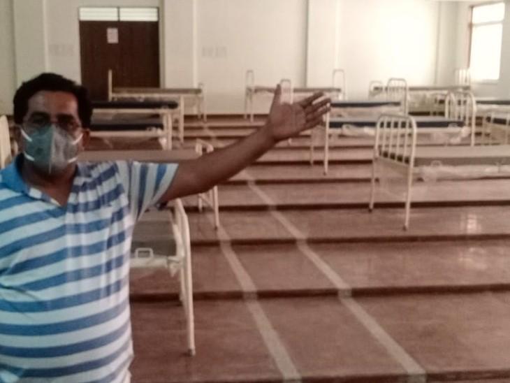 कोटा यूनिवर्सिटी के 10 बड़े हॉल कोविड़ केयर सेंटर के अधिग्रहित, एक हॉल में 25 बेड की क्षमता, ऑक्सीजन कन्संट्रेटर भी लगाए जाएंगे|कोटा,Kota - Dainik Bhaskar