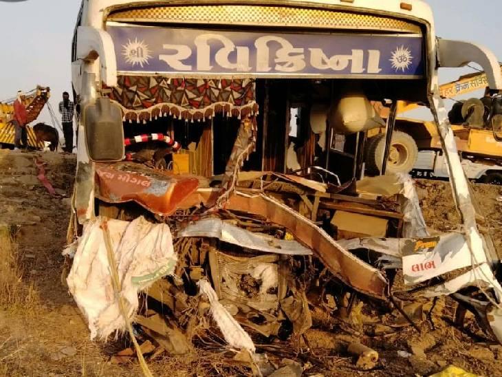 गुजरात से पटना जा रही श्रमिकों से भरी बस मैहर के पास ट्रैक्टर से हुई टक्कर, एक की मौत, 16 घायल|सतना,Satna - Dainik Bhaskar