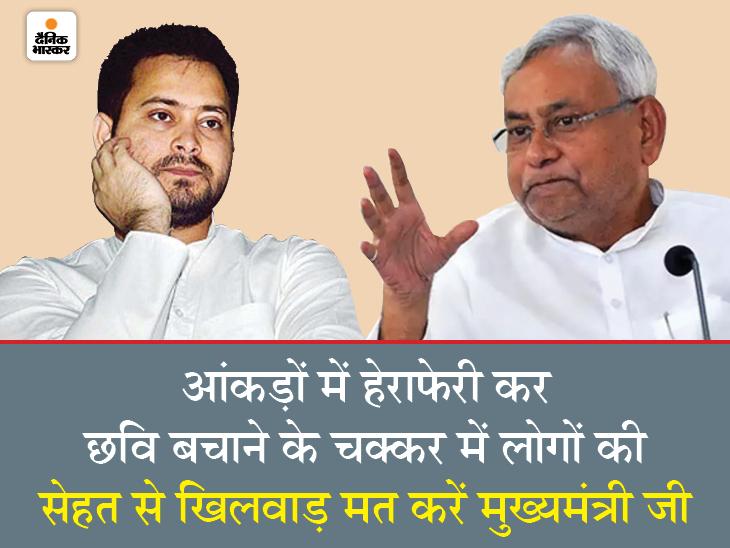 तेजस्वी ने लगाया आरोप; कहा- कम केस दिखा रहे इसलिए केंद्र से नहीं मिल रहीं सुविधाएं बिहार,Bihar - Dainik Bhaskar