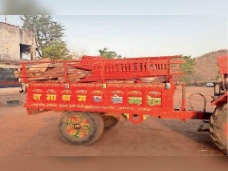शाहाबाद. बडारा गांव में पुलिस ने जब्त किया टेंट का सामान। - Dainik Bhaskar