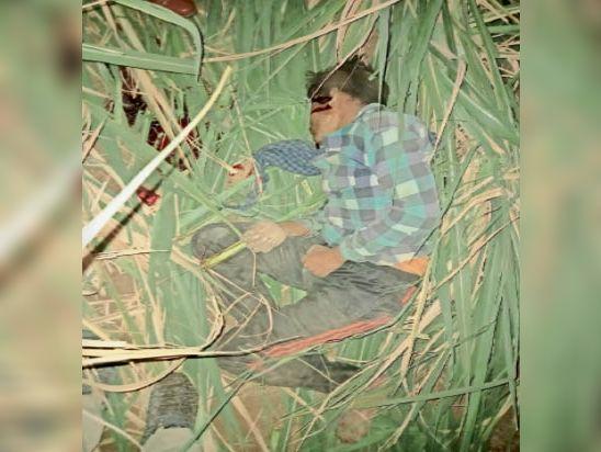 खेत में गिरने से ड्राइवर गजानंद ने मौके पर दम तोड़ दिया। - Dainik Bhaskar