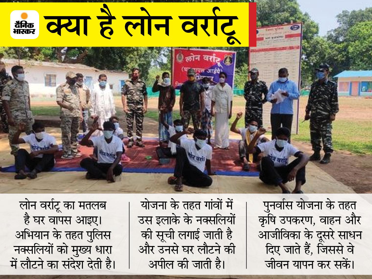 दंतेवाड़ा में एक लाख रुपए के इनामी सहित 7 नक्सलियों ने CRPF कैंप में किया सरेंडर; दिलाई गई मुख्यधारा में लौटने की शपथ|छत्तीसगढ़,Chhattisgarh - Dainik Bhaskar