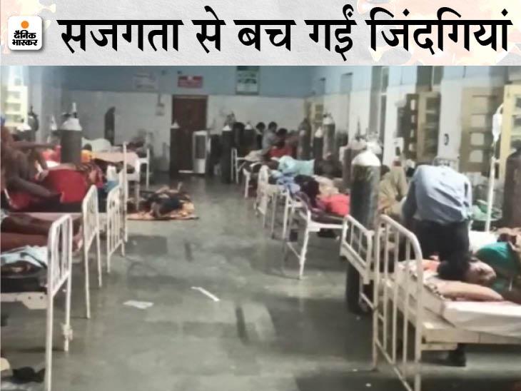 ऑक्सीजन पर 120 मरीज, सिलेंडर सिर्फ 3; कलेक्टर-एसपी ने आधी रात को 63 सिलेंडर मंगाकर दीं सांसें|भिंड,Bhind - Dainik Bhaskar