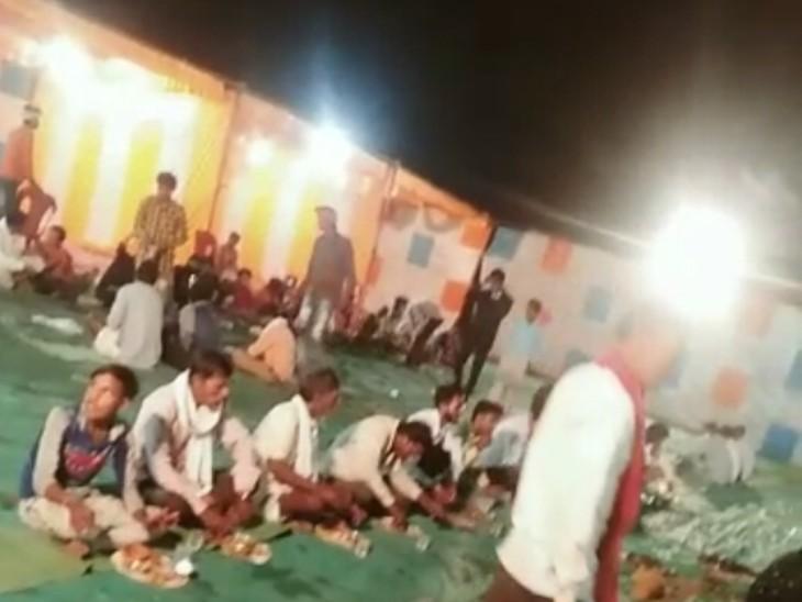 बंजारा समुदाय का विवाह सम्मेलन, बारात निकली, पंगत भी हुई। - Dainik Bhaskar