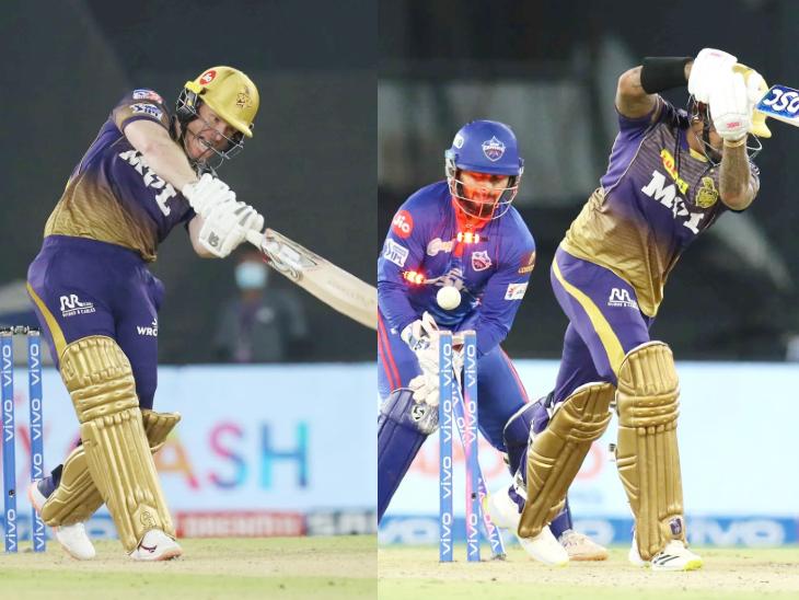 KKR के कप्तान ओएन मोर्गन और सुनील नरेन शून्य पर आउट हुए। सीजन में अब तक कोलकाता के सबसे ज्यादा 6 बल्लेबाज शून्य पर आउट हो चुके हैं।