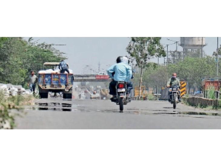 अम्बाला सिटी | कैंट में जीटी राेड पर दाेपहर के समय हाईवे से गुजरते वाहन चालक। - Dainik Bhaskar