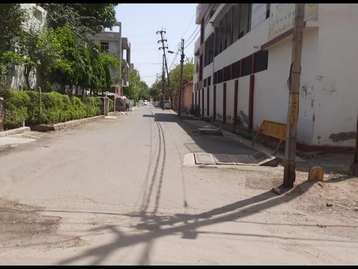 विनय नगर में खुला कंटेनमेंट जोन। - Dainik Bhaskar