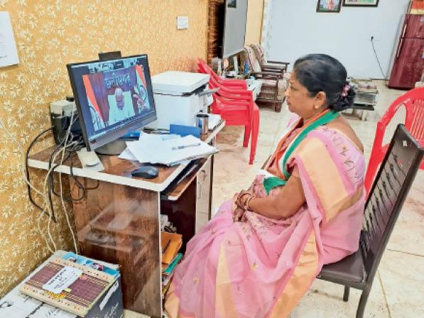 सिहावा विधायक डॉ. लक्ष्मी ध्रुव ने सीएम से वीसी के जरिए बातचीत की। - Dainik Bhaskar