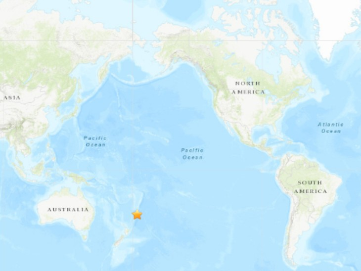 भूकंप का एपीसेंटर गिसबोर्न शहर से 168 KM दूर दर्ज किया गया है। - Dainik Bhaskar