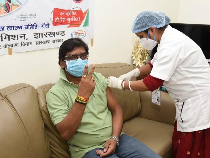 CM हाउस में ही तीन रूम का वैक्सीनेशन सेंटर बनाया गया था। - Dainik Bhaskar