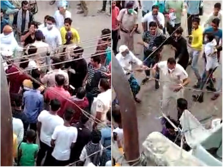 शाम 4 बजे के बाद खुली दुकानें बंद कराने गए पुलिसवालों से भिड़े लोग, बहस के बाद हाथापाई भी की|पटना,Patna - Dainik Bhaskar