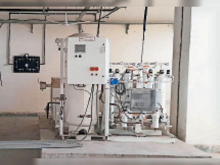 समालखा. एसडीएचमें लगी ऑक्सीजन सप्लाई की मशीन। - Dainik Bhaskar
