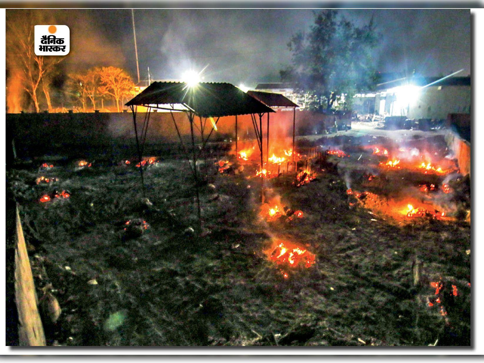 15 दिन में 12389 मौतें, इनमें सिर्फ 19 जिलों में 5484 का कोविड प्रोटोकॉल से हुआ अंतिम संस्कार, भोपाल में 1663|भोपाल,Bhopal - Dainik Bhaskar