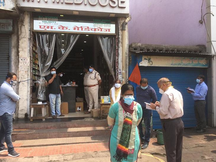 बिना पर्ची के बेच रहा था सर्दी-बुखार की दवाइयां, लेने वालों का रिकार्ड भी नहीं; मेडिकल स्टोर को किया गया सील छत्तीसगढ़,Chhattisgarh - Dainik Bhaskar