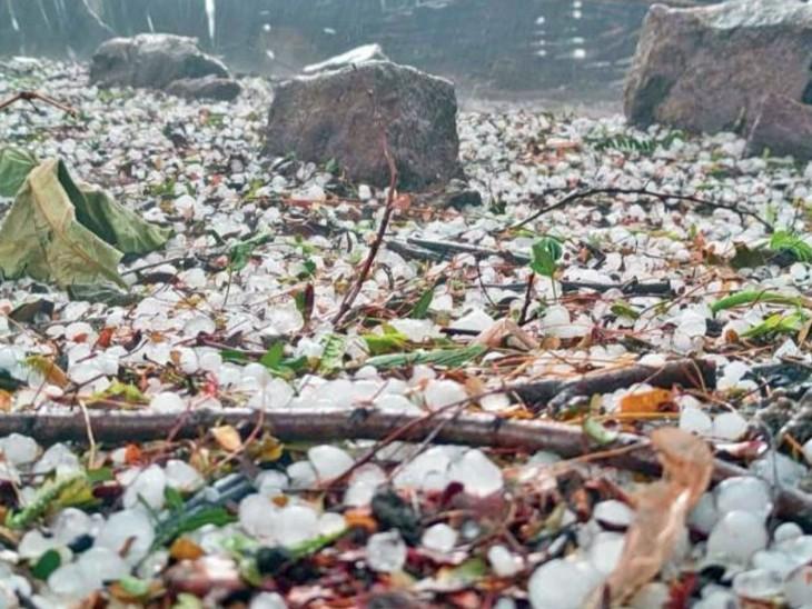 दक्षिण छत्तीसगढ़ के कुछ इलाकों में हल्की से मध्यम बारिश हुई कई जगह ओले गिरे। - Dainik Bhaskar