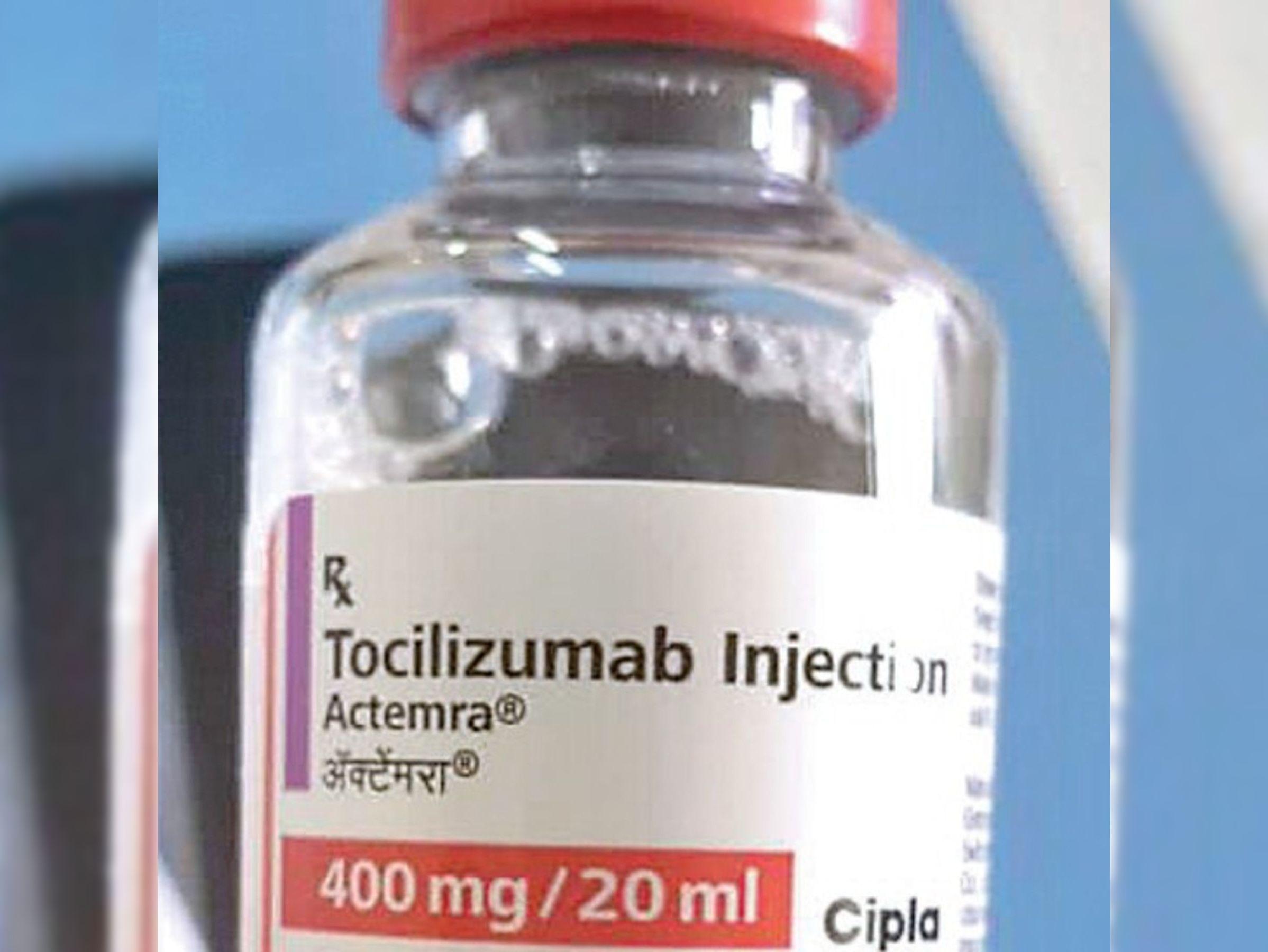टोसिलिमिजुलैब इंजेक्शन क्लीनिकल आधार पर मूल्यांकन कर इमरजेंसी में ही लगाया जाता है। यही वजह है कि इसकी जरूरत कम ही मरीजों को होती है। - Dainik Bhaskar