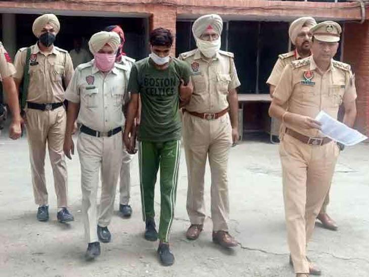 पुलिस की गिरफ्त में फतेहगढ़ साहिब जिले की हद में हत्या करके नवांशहर के ट्रक ड्राइवर की लाश को जलाने का अमृतसर निवासी आरोपी। - Dainik Bhaskar