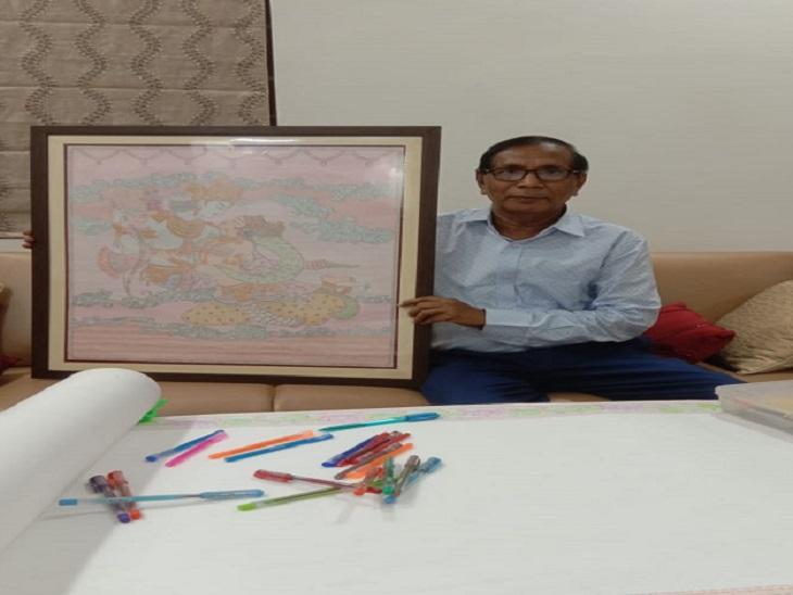 भिलाई के रहने वाले ललित कुमार दुबे अपने अनोखी कला से सभी का ध्यान आकर्षित कर रहे हैं। - Dainik Bhaskar