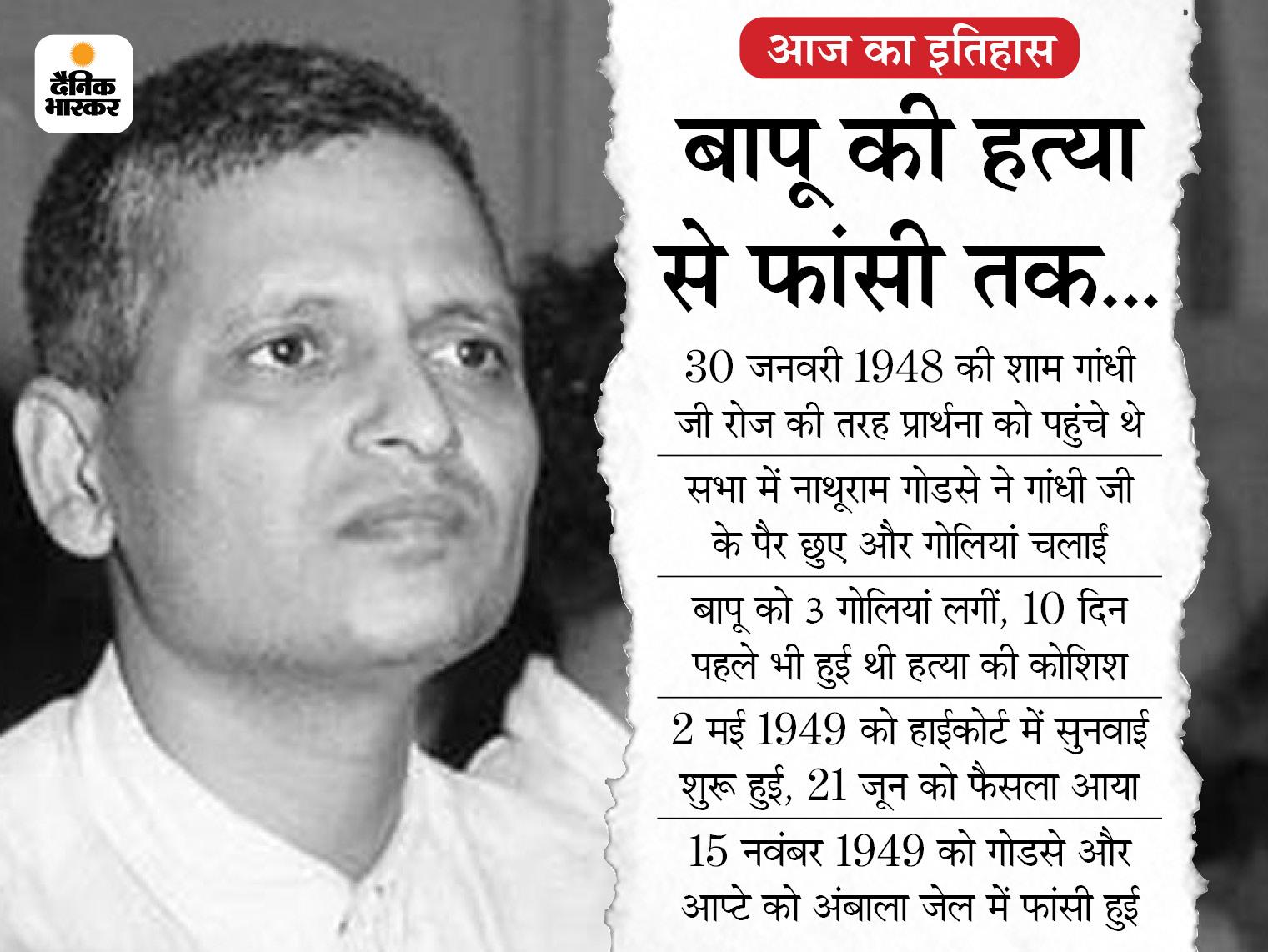 महात्मा गांधी की हत्या के लिए पंजाब हाईकोर्ट में शुरू हुई थी नाथूराम गोडसे एवं अन्य के खिलाफ सुनवाई देश,National - Dainik Bhaskar