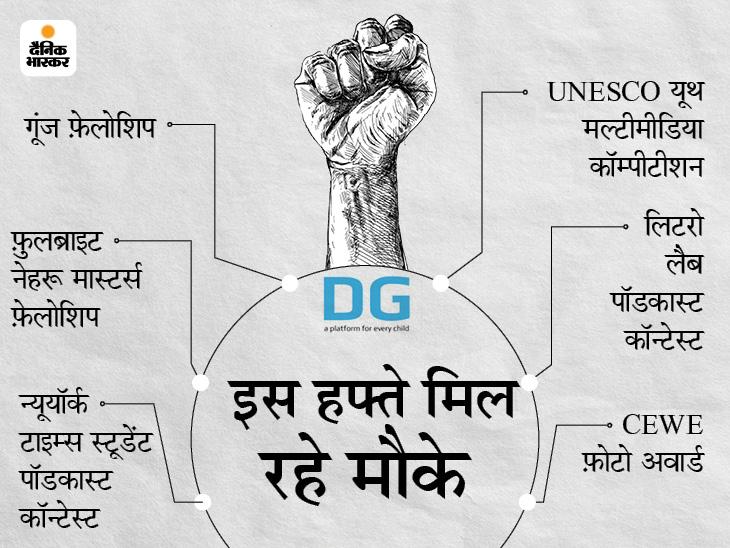 UNESCO के साथ ही 6 इंटरनेशनल कम्पीटीशन्स में टैलेंट दिखाकर अवार्ड जीतने के मौके|बिहार,Bihar - Dainik Bhaskar