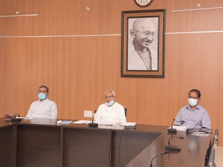 कोरोना नियंत्रण को लेकर सोमवार शाम को करीब डेढ़ घंटे तक CM नीतीश ने हाईलेवल मीटिंग की। (फाइल फोटो) - Dainik Bhaskar