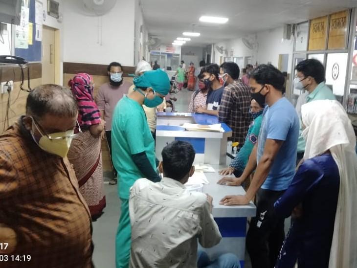 जिले में पहली बार काेरोना के एक्टिव केस 11 हजार को पार कर गए, अकेले शहर में 60 प्रतिशत मरीज आए अलवर,Alwar - Dainik Bhaskar